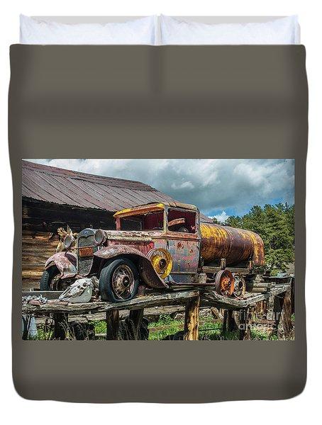 Vintage Ford Tanker Duvet Cover