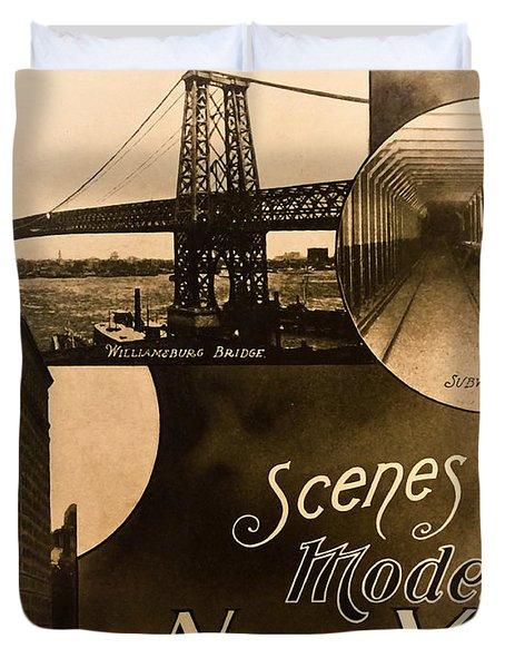 Vintage New York City Travel Brochure Duvet Cover