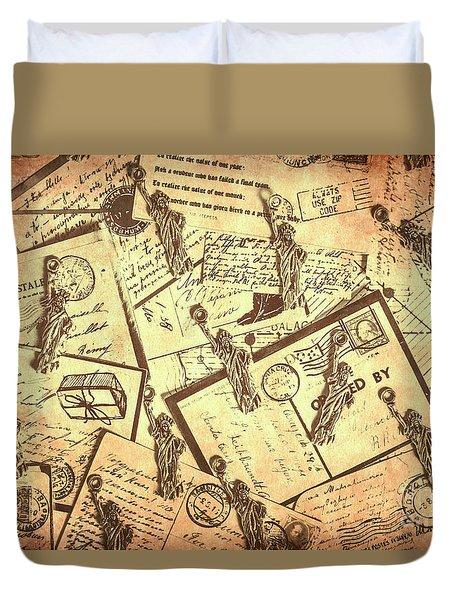 Vintage New York Post Duvet Cover
