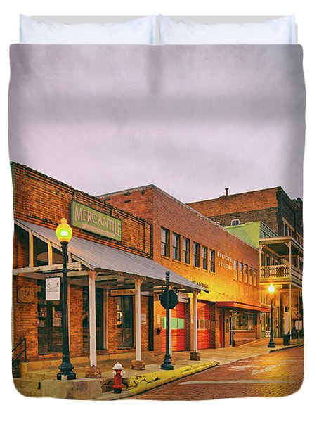 Vintage Photograph Of General Mercantile And Oldtime Spring Shop In Downtown Nacogdoches - Texas  Duvet Cover