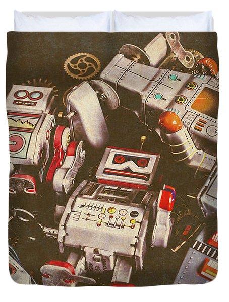 Vintage Robotronics Duvet Cover