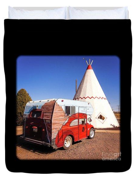 Vintage Volkswagon Beatle Camper  Duvet Cover
