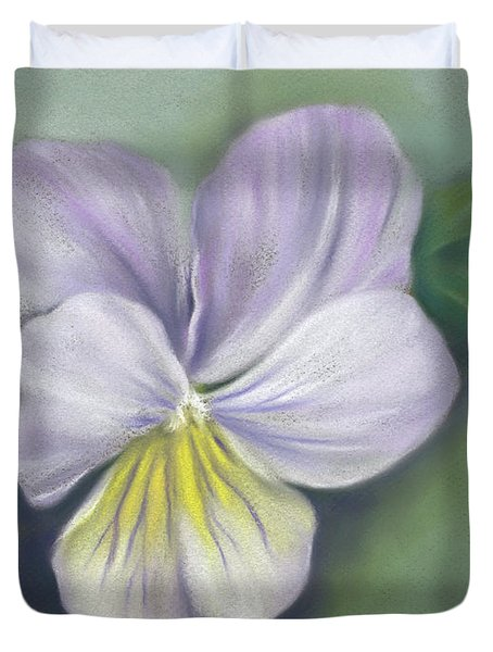 Viola Purple And Yellow Duvet Cover