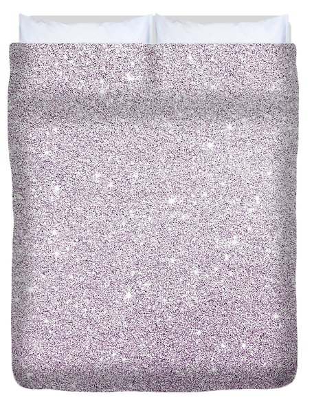 Duvet Cover featuring the photograph Violet Glitter by Top Wallpapers