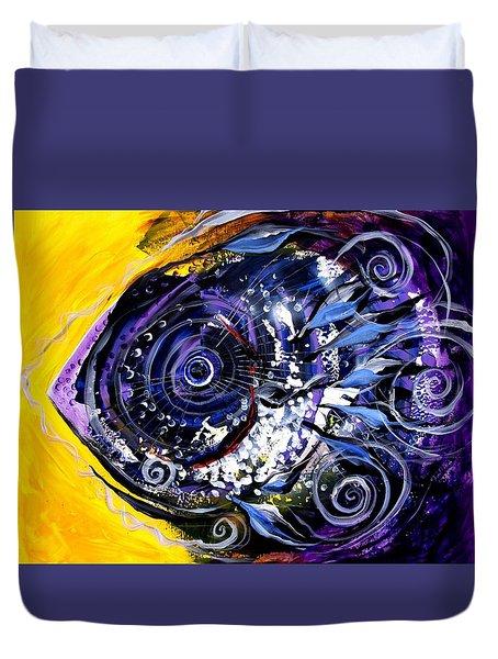 Violet Tri Fish Duvet Cover