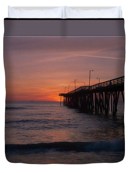 Virginia Beach Sunrise Duvet Cover
