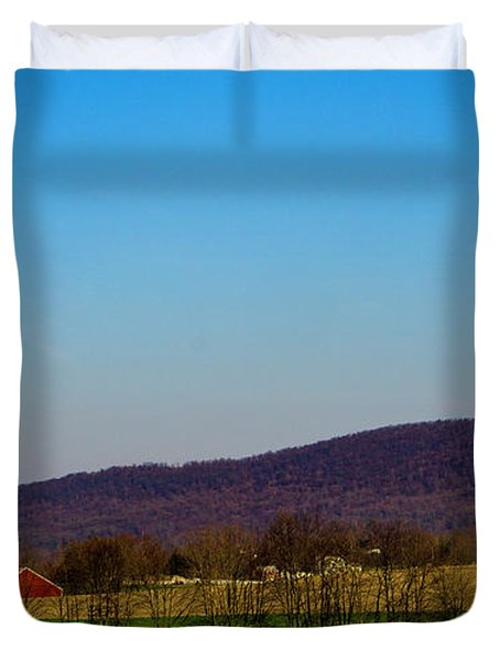 Virginia Mountain Landscape Duvet Cover