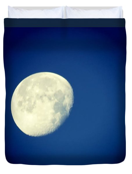 Duvet Cover featuring the photograph Virgo Moon Three Quarters by Judy Kennedy