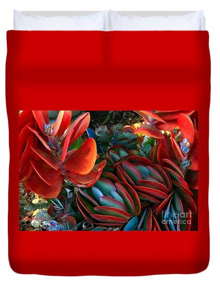 Vivid Paddle-leaf Succulent Duvet Cover