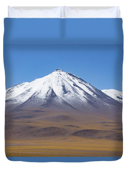 Volcano On The Altiplano Duvet Cover