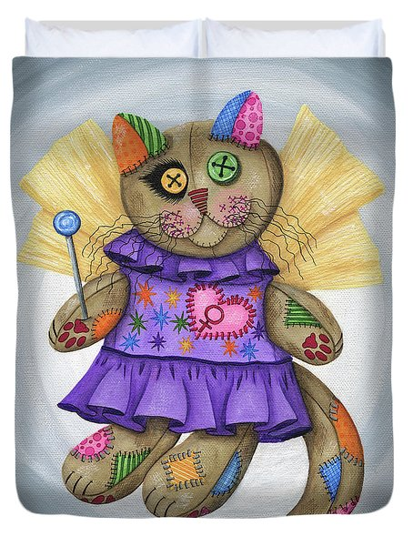 Voodoo Empress Fairy Cat Doll - Patchwork Cat Duvet Cover
