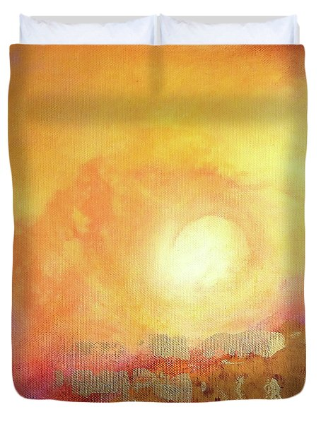 Duvet Cover featuring the painting Vortex Of Light by Valerie Anne Kelly