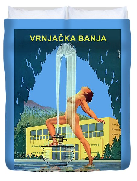 Vrnjacka Banja, Yugoslavia, Serbia Duvet Cover