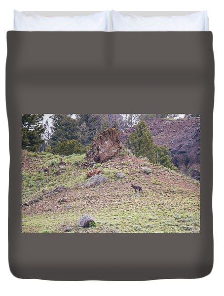 Duvet Cover featuring the photograph W21 by Joshua Able's Wildlife