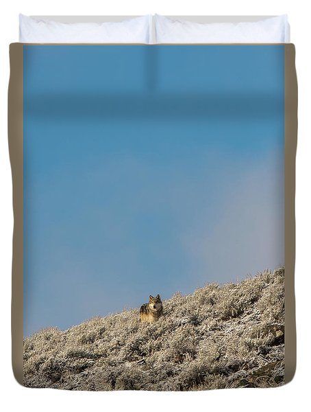 Duvet Cover featuring the photograph W24 by Joshua Able's Wildlife