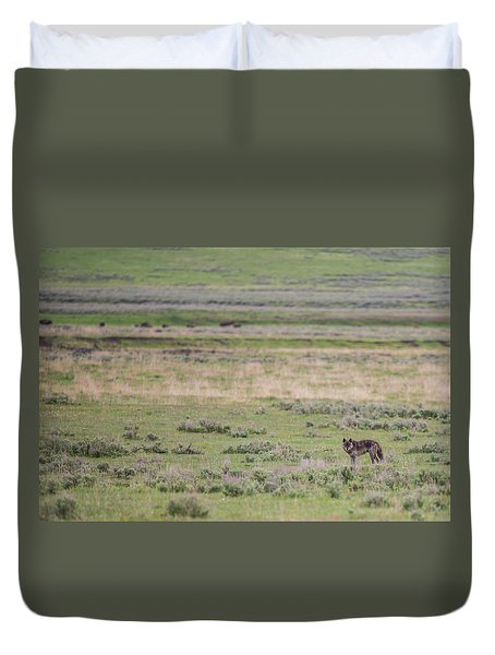 Duvet Cover featuring the photograph W26 by Joshua Able's Wildlife