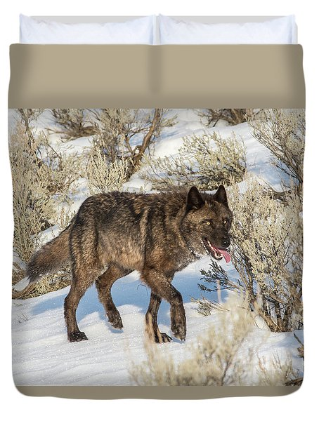 Duvet Cover featuring the photograph W28 by Joshua Able's Wildlife