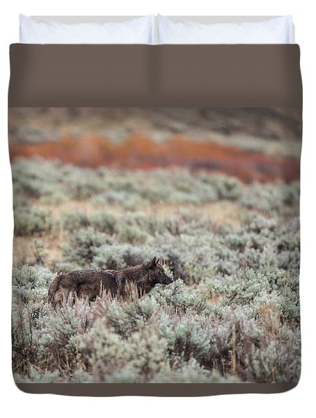 Duvet Cover featuring the photograph W30 by Joshua Able's Wildlife
