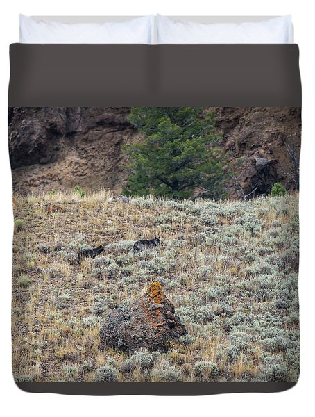 Duvet Cover featuring the photograph W32 by Joshua Able's Wildlife