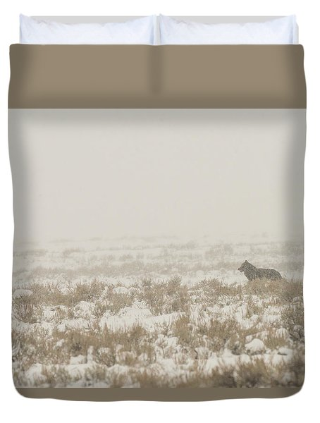 Duvet Cover featuring the photograph W34 by Joshua Able's Wildlife