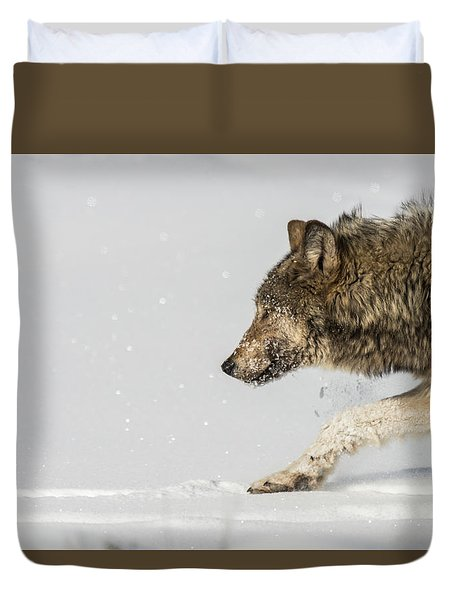 Duvet Cover featuring the photograph W40 by Joshua Able's Wildlife