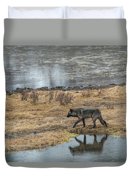 Duvet Cover featuring the photograph W53 by Joshua Able's Wildlife