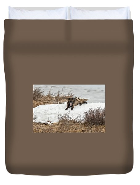 Duvet Cover featuring the photograph W57 by Joshua Able's Wildlife