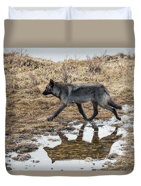 Duvet Cover featuring the photograph W60 by Joshua Able's Wildlife
