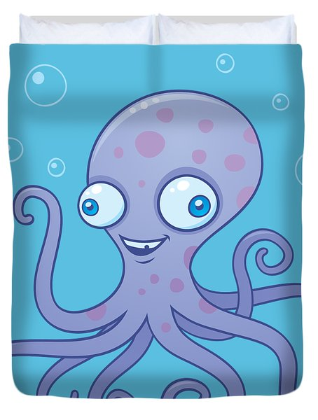 Wacky Octopus Duvet Cover