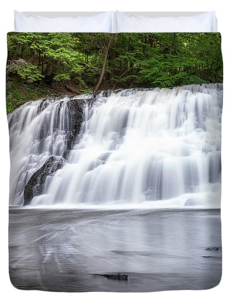 Wadsworth Falls In Middletown, Connecticut U.s.a.  Duvet Cover