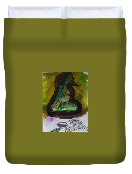 Waiting For Death Duvet Cover