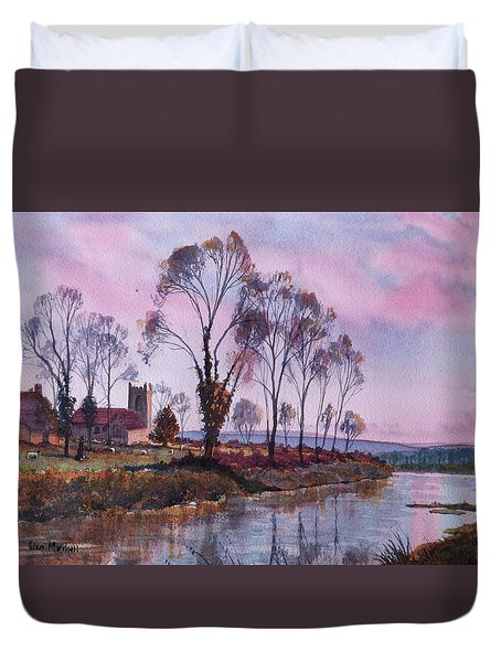Waiting For Sunset Duvet Cover