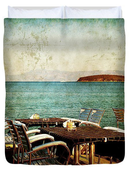 Duvet Cover featuring the photograph Waiting For The Right People by Milena Ilieva