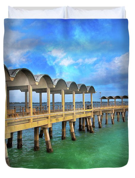 Waiting For Your Visit Jekyll Island Duvet Cover