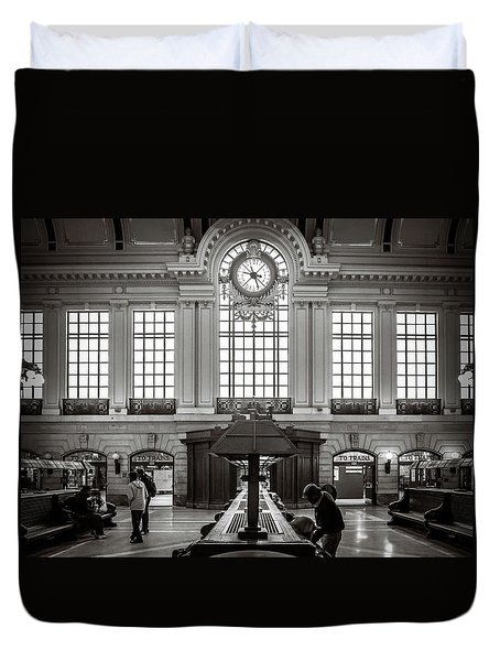Duvet Cover featuring the photograph Waiting Room by Steve Stanger