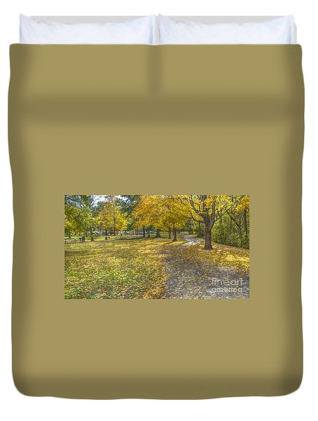 Walk In The Park @ Sharon Woods Duvet Cover