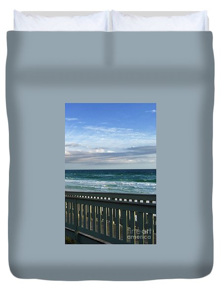 Walk With Me To The Beach Duvet Cover