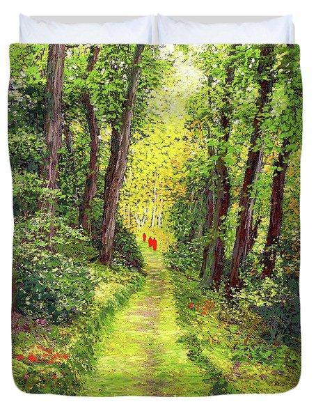 Walking Meditation Duvet Cover