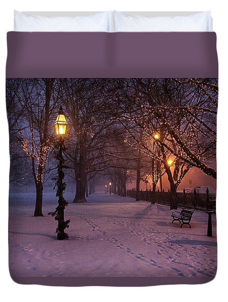 Walking The Path On Salem Ma Common Duvet Cover