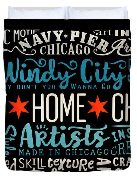Wall Art Chicago Duvet Cover