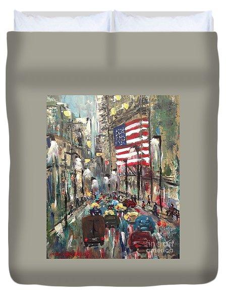 wall street NY Duvet Cover