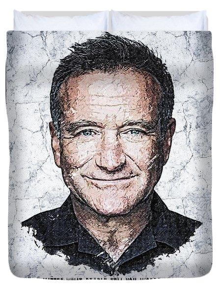 Wallart Robin Williams 2 Duvet Cover