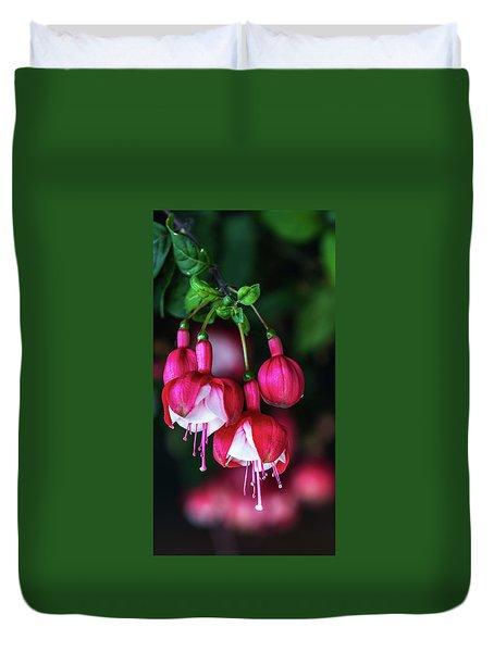 Wallpaper Flower Duvet Cover
