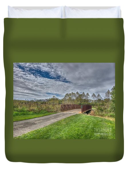Walnut Woods Bridge - 1 Duvet Cover