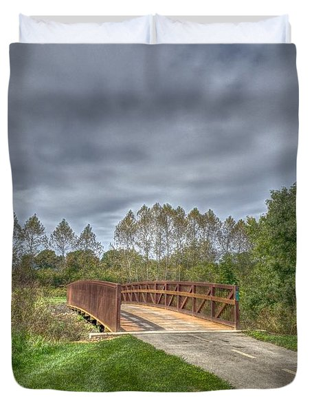 Walnut Woods Bridge - 2 Duvet Cover
