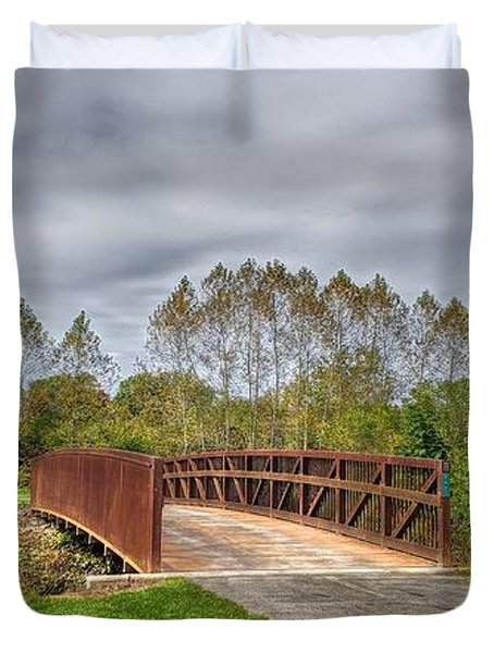 Walnut Woods Bridge - 3 Duvet Cover