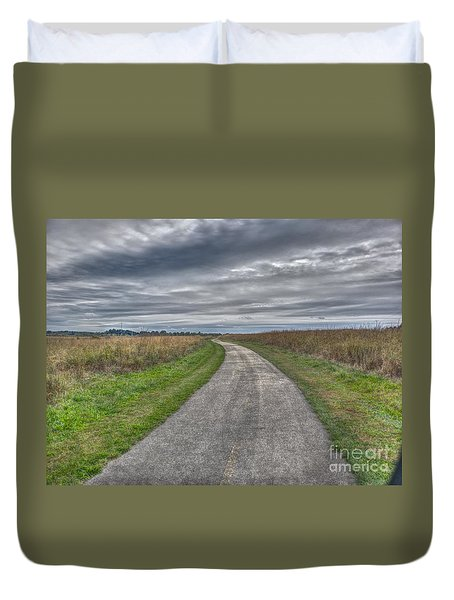 Walnut Woods Pathway - 1 Duvet Cover