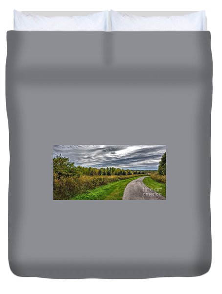 Walnut Woods Pathway - 2 Duvet Cover