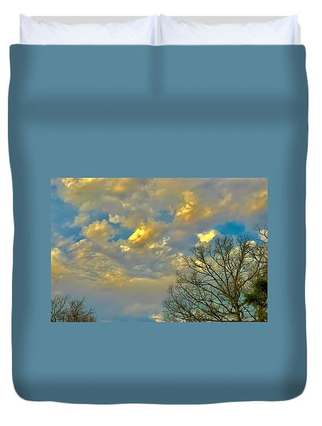 Warm And Cool Sky Duvet Cover