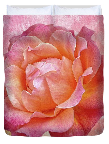 Warm And Crunchy Rose Duvet Cover